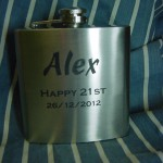 Hip flask $25.00 engraved & posted anywhere in Australia